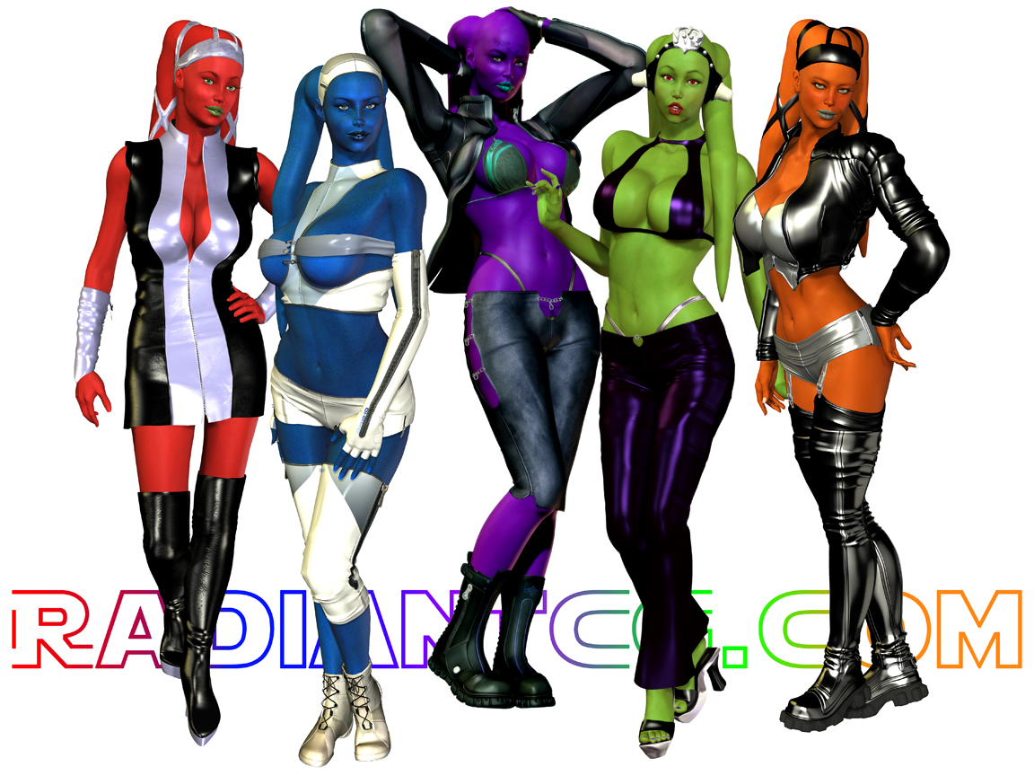 Trendy Twi'lek Girls!