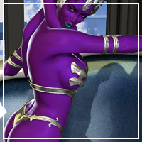 Purple Twi'lek in Shiny Things
